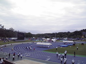 Blue surface track in Nara.jpg