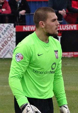 Bobby Olejnik - Olejnik playing for York City in 2015