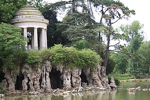 Bois de Vincennes - The Temple of Love on Lac Daumesnil in the Bois de Vincennes