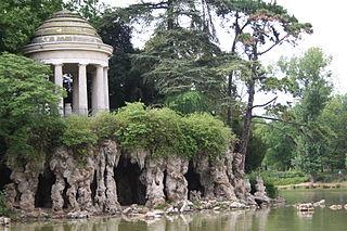 Bois de Vincennes public park in Paris