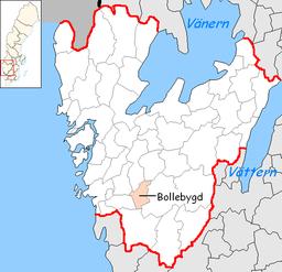 Bollebygd Municipality in Västra Götaland County.png
