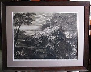 Schelte a Bolswert - Schelte Bolswert: Shipwreck of Aeneas (large landscape after Rubens).