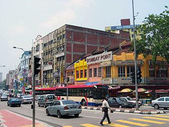 Brickfields - Jalan Tun Sambanthan in Brickfields.