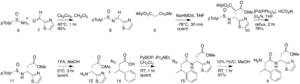 Bottromycin - First part of the bottromycin total synthesis as reported by Shimamura et al.