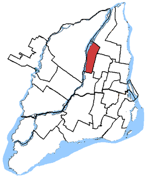 Bourassa (electoral district) - Bourassa in relation to other federal electoral districts of Montreal and Laval