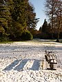 Bournemouth Gardens, shadow of bench on snow - geograph.org.uk - 1654097.jpg