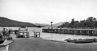 Windermere - Bowness-on-Windermere landing station in 1961