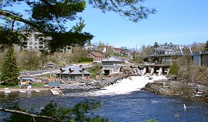 Bracebridge, Ontario - View of the road into central Bracebridge.
