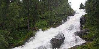 Gaular - View of the Brekkefossen waterfall