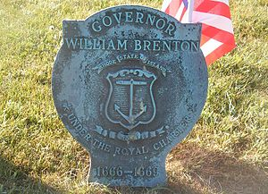 William Brenton - Governor William Brenton grave medallion