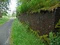 Brick buttress on the Glen Ogle railway walk - geograph.org.uk - 1406964.jpg