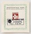 Briefmarke Österreich 1937 Muttertag ERsttagsausgabe.JPG