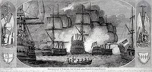 Battle of Pulo Aura - Image: Brilliant naval action of the East India Fleet