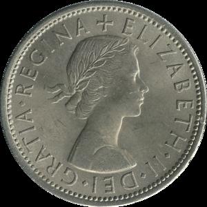 Florin (British coin) - Image: British florin 1967 obverse