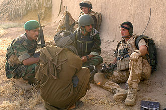 Canadian Afghan detainee issue - Image: British soldier with ANA local