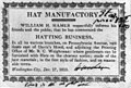 Broadside)- Hat Manufactory. William H. Hamer respectfully informs..., that he has commenced the hatting business, ... Washington City, Dec. 17, 1810 LCCN2005693293.jpg
