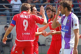 Thomas Broich - Broich (second from right) celebrates a goal with teammates in 2007