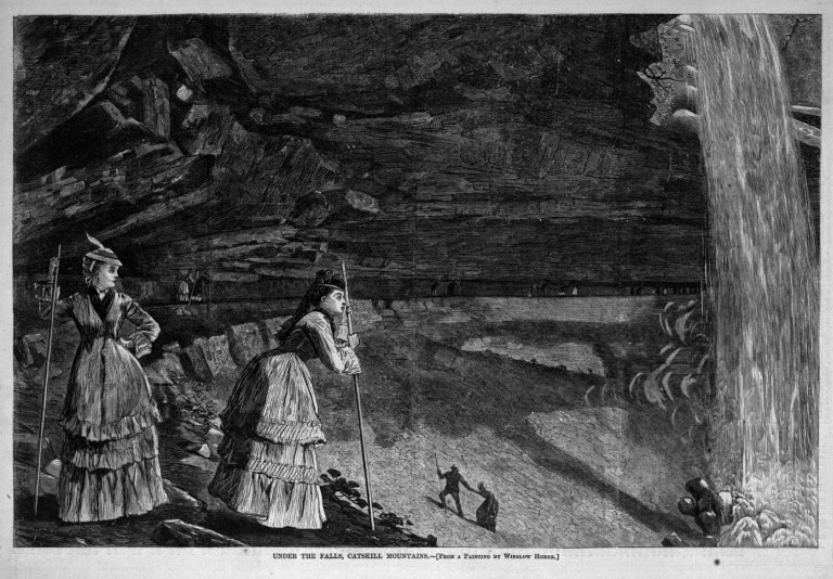 Brooklyn Museum - Under the Falls, Catskill Mountains - Winslow Homer - overall