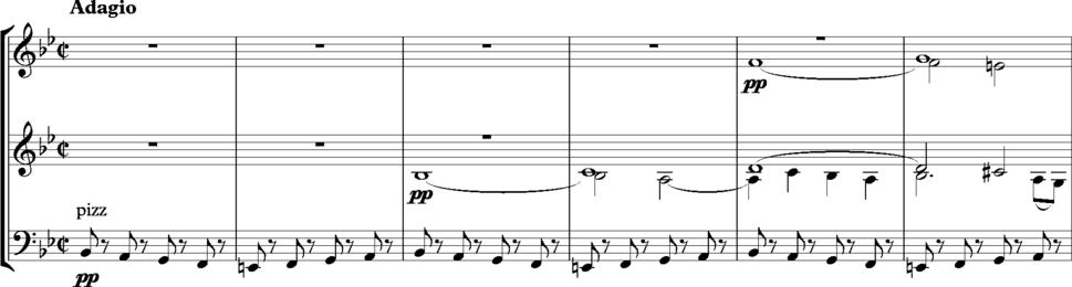 Bruckner Symphony No. 6, opening