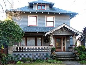 National Register of Historic Places listings in North Portland, Oregon - Image: Bruening House Portland Oregon