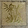 Brussels Central Station Saint Michael tile.jpg