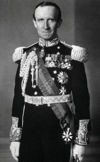 Order of the Companions of Honour - Lord Tweedsmuir, as Governor General of Canada, wearing the Companion of Honour badge around his neck as part of his ceremonial Windsor uniform