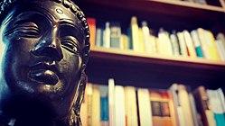 Buddha a könyvtárban.jpg