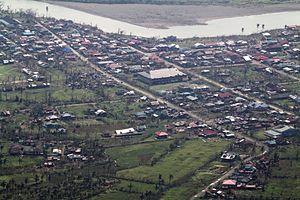 Palanan, Isabela - Aerial view of Palanan after Super Typhoon Megi (PAGASA name:Juan)