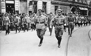Roter Frontkämpferbund - RFB leaders Thälmann and Leow in Berlin, June 1927