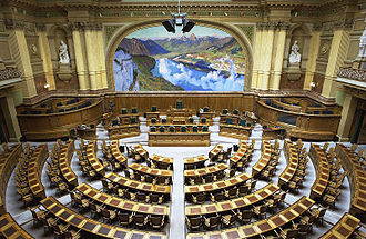 Federal Assembly (Switzerland) - Image: Bundeshaus Nationalratsratssaal 001