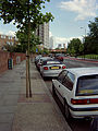 Burdett Road Mile End looking towards Canary Wharf and Docklands.jpg