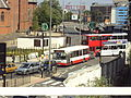 Buses, seen from Birmingham Snow Hill railway station - DSC08884.JPG