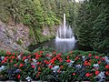Butchart Gardens Fountain - panoramio.jpg