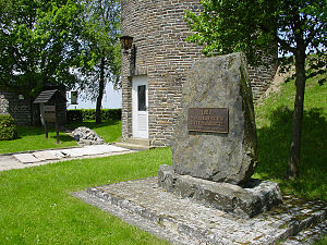 Buurgplaatz - Stone and base of the tower