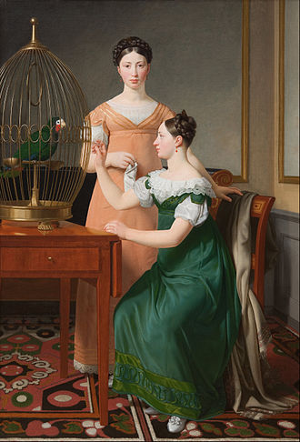Bella and Hanna. The Eldest Daughters of M. L. Nathanson - Image: C.W. Eckersberg Mendel Levin Nathanson's Elder Daughters, Bella and Hanna Google Art Project