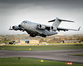 C17 Transport Aircraft Taking Off from RAF Brize Norton MOD 45156519.jpg