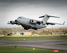 C17 Transport Aircraft Taking Off from RAF Brize Norton MOD 45156519