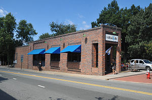 """Carrboro Commercial Historic District - """"Flatiron Building,"""" March 2007"""