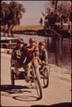 CHILDREN OF FISHERMEN ON HOMEMADE TRICYCLE - NARA - 545973.tif