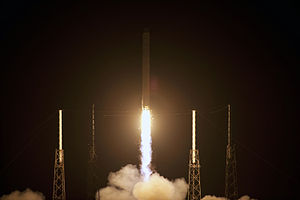 Dragon C2+ - The COTS 2 Falcon 9 successfully launches with the Dragon spacecraft on 22 May 2012.