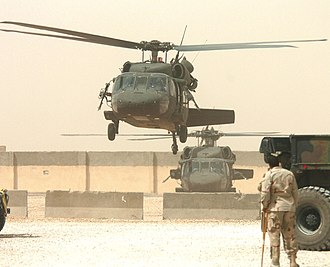 Stratford, Connecticut - Sikorsky Aircraft Black Hawk helicopters in Iraq in 2005