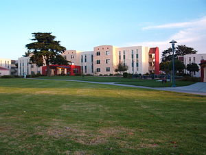 California State University, Monterey Bay - A residence hall in the Quad portion of the campus.