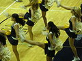 Cal Dance Team at women's volleyball, USC at Cal 11-22-08 4.JPG