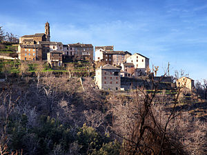Campana, Haute-Corse - The church and surrounding buildings in Campana village