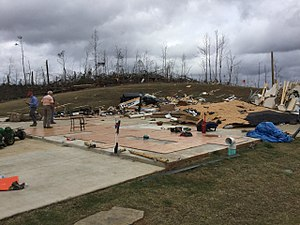 Tornado outbreak of December 23–25, 2015 - EF4 damage to a large house near Canaan, MS