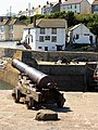 Cannons at Porthleven Harbour Entrance - geograph.org.uk - 218948.jpg