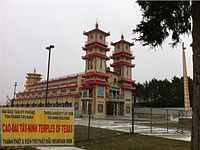 Cao Đài temple in Dallas, Texas, near a large Vietnamese community