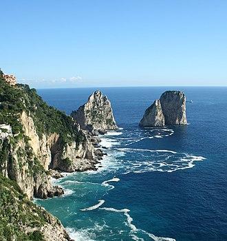 Faraglioni - Faraglioni, seen from southern coast of Capri.