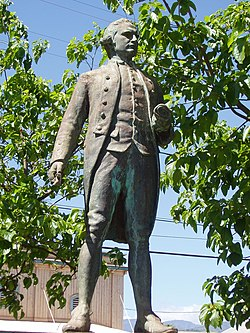 Captain James Cook statue, Waimea, Kauai, Hawaii.JPG