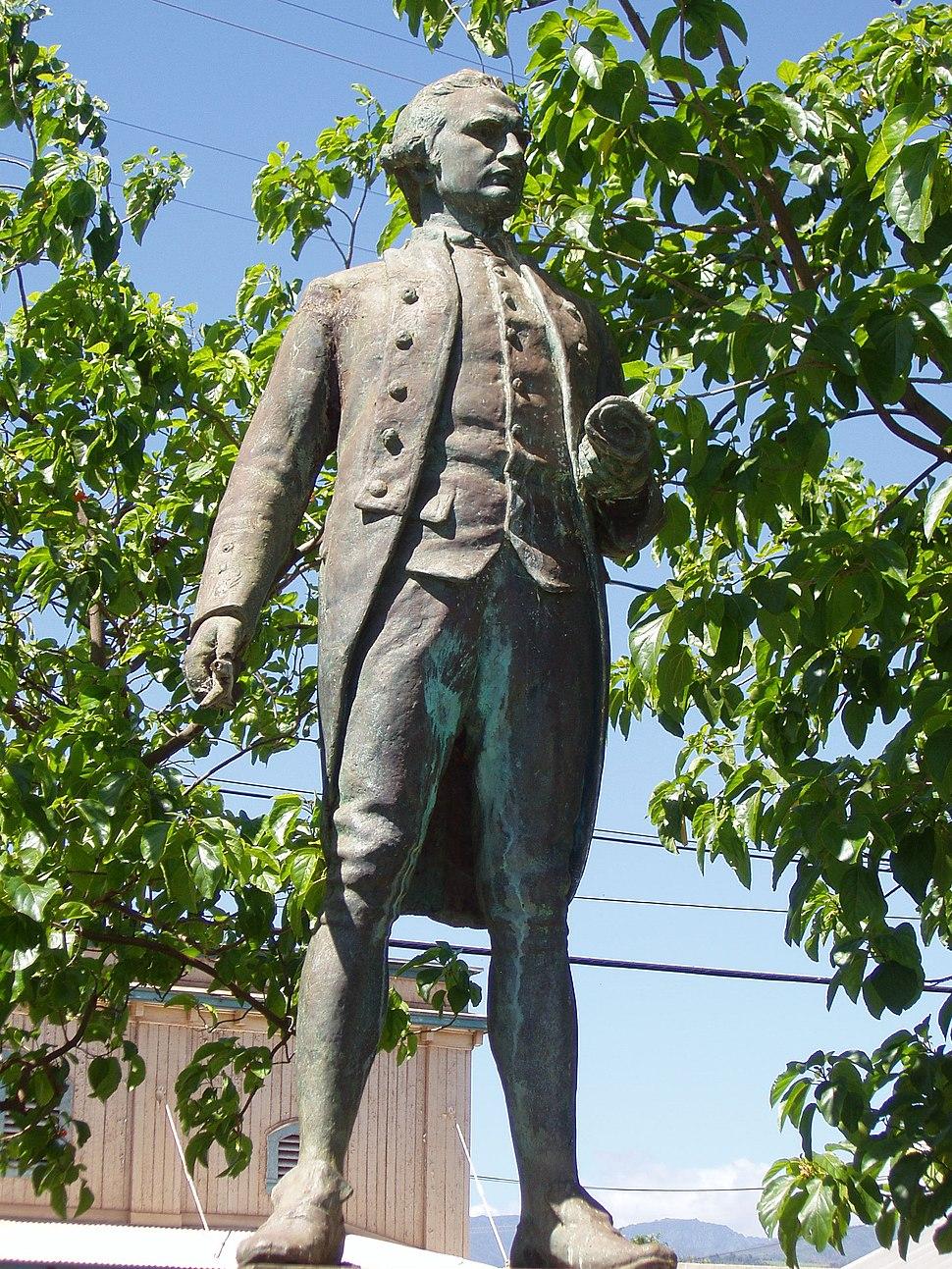 Captain James Cook statue, Waimea, Kauai, Hawaii